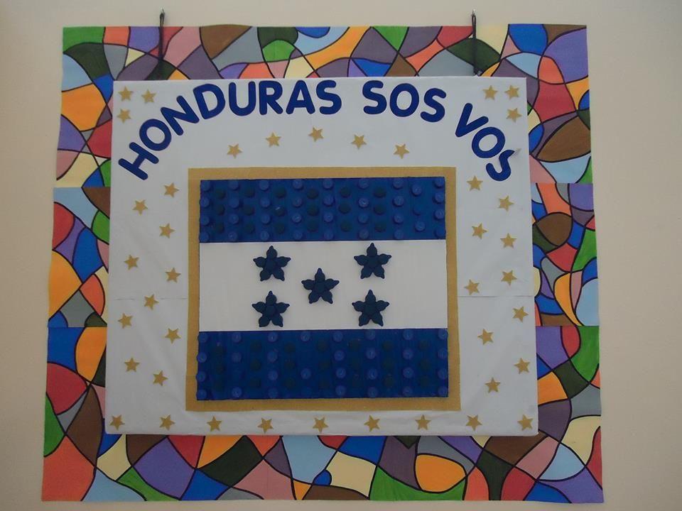 Bandera De Honduras Hecha Con Tapas De Refresco Desechable Honduras Sos Frame