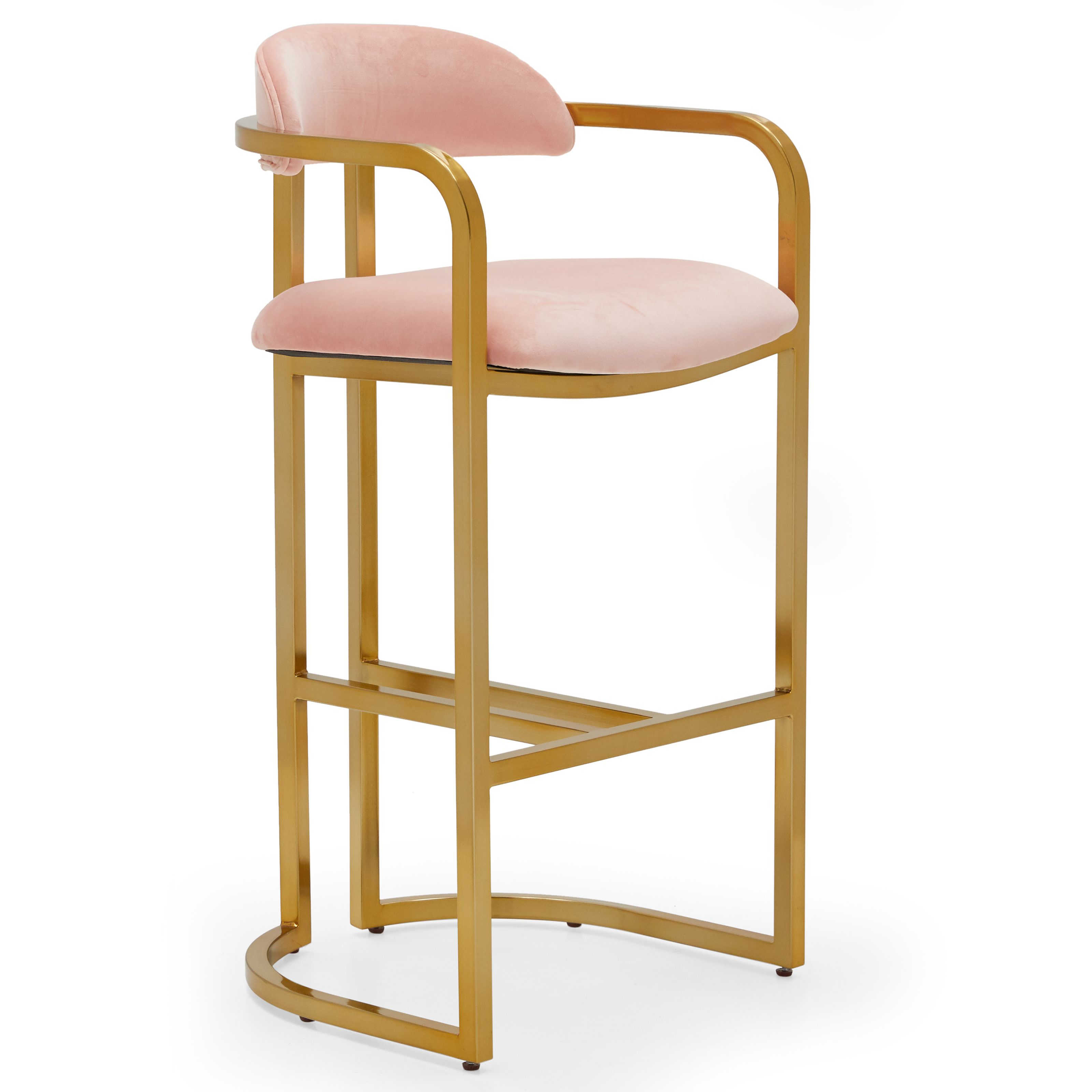 Amazing Buy Modrn Glam Marni Metal Base Bar Stool Multiple Colors Squirreltailoven Fun Painted Chair Ideas Images Squirreltailovenorg
