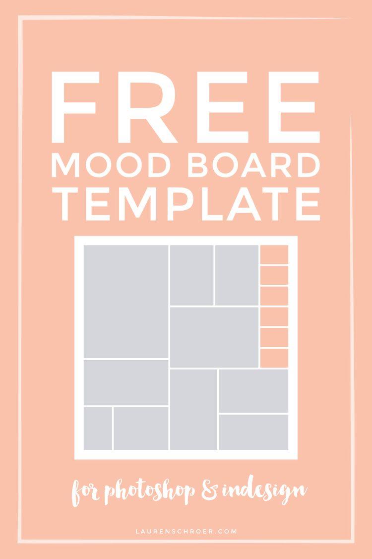 Free Mood Board Template | Cosas, Informática y Fuentes