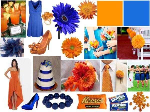 Orange Blue Wedding Theme One Day Pinterest Wedding