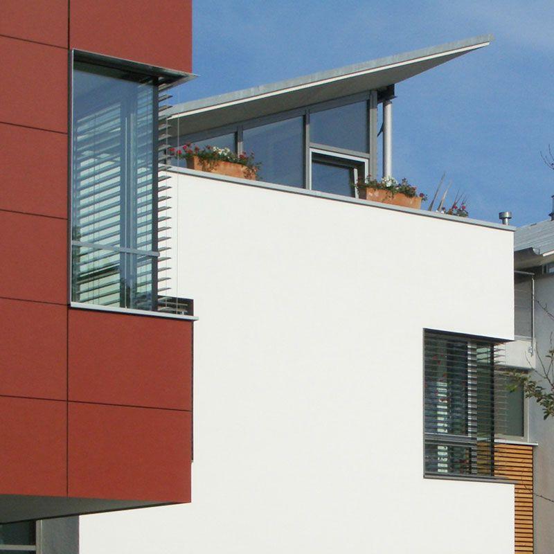Weber Und Partner fassade eternit architekturbüro mit zwei doppelhäusern weber und