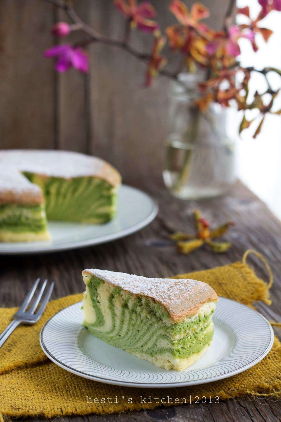 Hesti S Kitchen Yummy For Your Tummy Green Tea Japanese Cheese Cake Resep Kue Keju Resep Kue Makanan
