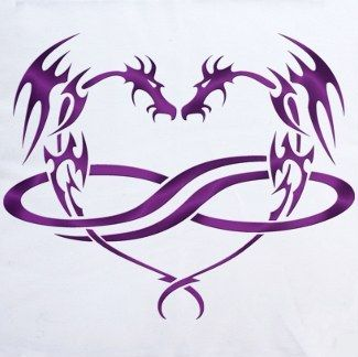 dragon infinite heart tattoo this would be perfect if i could find it in a cross instead of. Black Bedroom Furniture Sets. Home Design Ideas