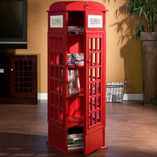 Exceptionnel Holly And Martin Jasper Phone Booth Cabinet. Bright Red, Faux Antique  Telephone Booth Is A Terrific Piece Of Accent Furniture And Unique Media  Cabinet.