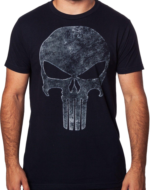 d021c2024 Punisher No Sweat Distressed Logo T Shirt - BCD Tofu House