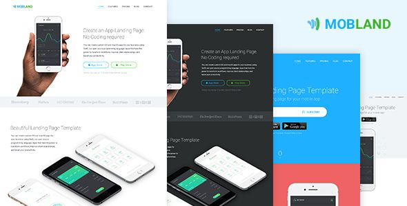 Mobile app landing page templates mobland by surjithctly mobland mobile app landing page templates mobland by surjithctly mobland is a minimal and creative mobile app landing page template built with bootstrap 4looking maxwellsz
