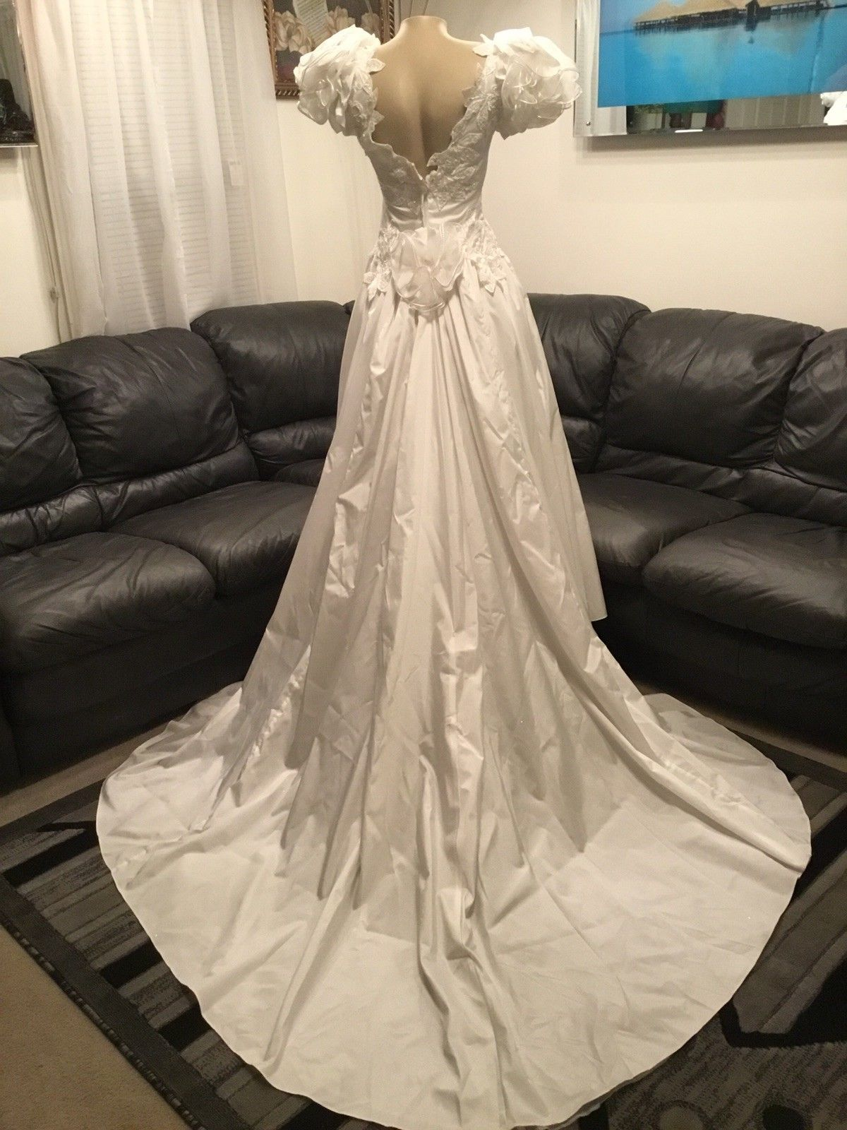 Vintage Puff Sleeve With Beaded Appliques Wedding Dress | wedding ...