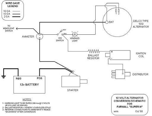 Farmall H Alternator Wiring Diagram