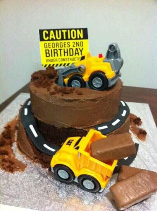 Fantastic Tonka Cake Construction Cake Funny Birthday Cards Online Necthendildamsfinfo