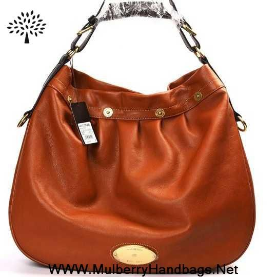 Womens Mulberry Mitzy East West Leather Hobo Bag Light Coffee Outlet Canada