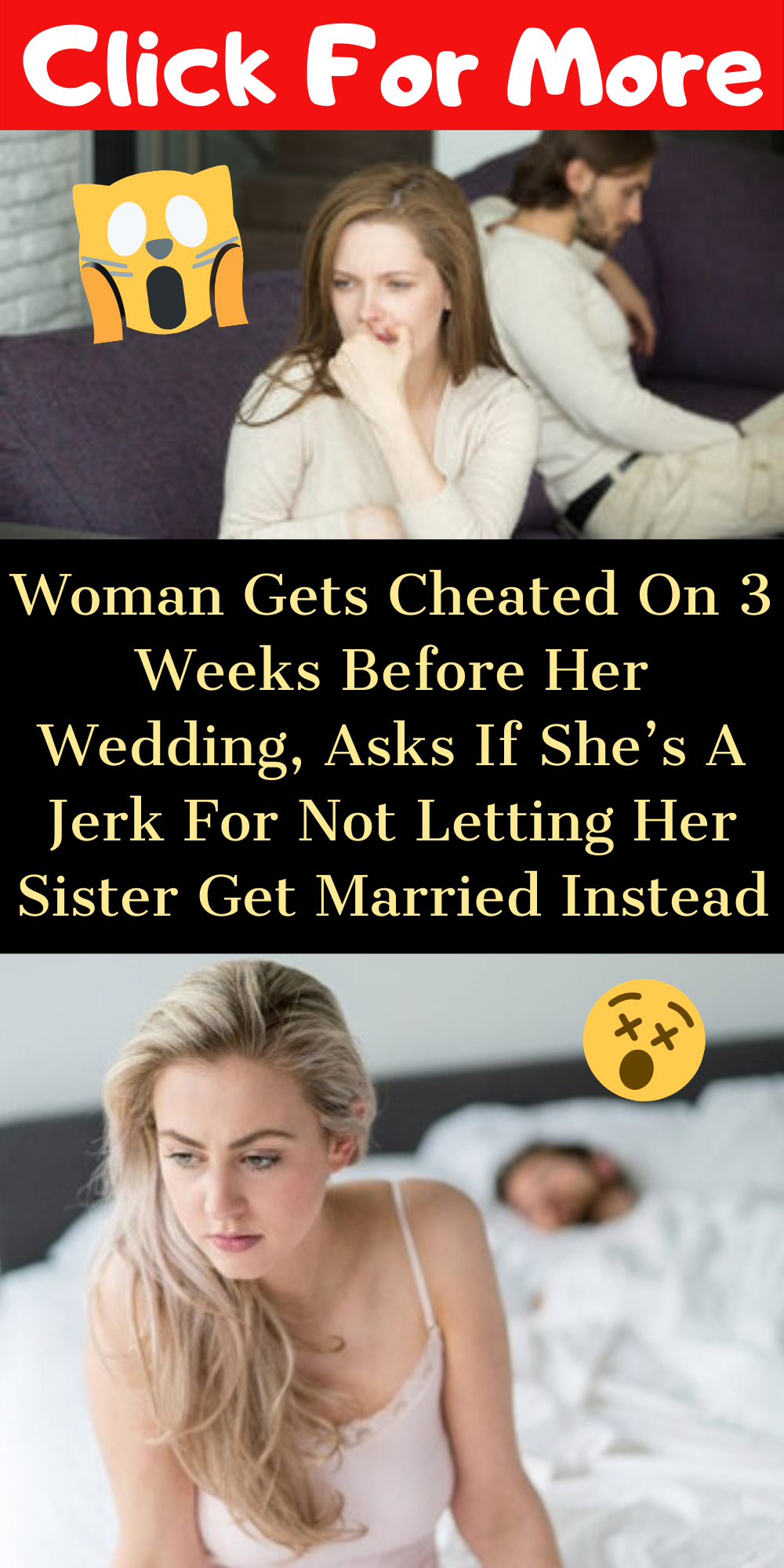 Woman Gets Cheated On 3 Weeks Before Her Wedding, Asks If