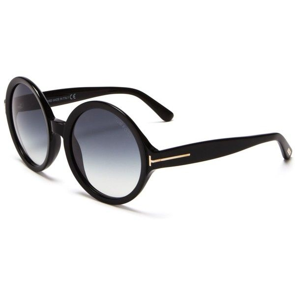 8c1253540 Tom Ford Juliet Round Oversized Sunglasses, 55mm ($325) ❤ liked on Polyvore  featuring accessories, eyewear, sunglasses, oversized eyewear, ...