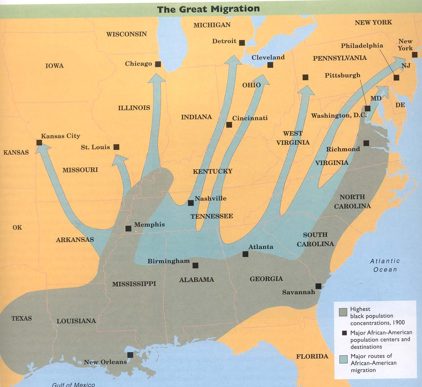 Great Migration In 90 Of African Americans Lived