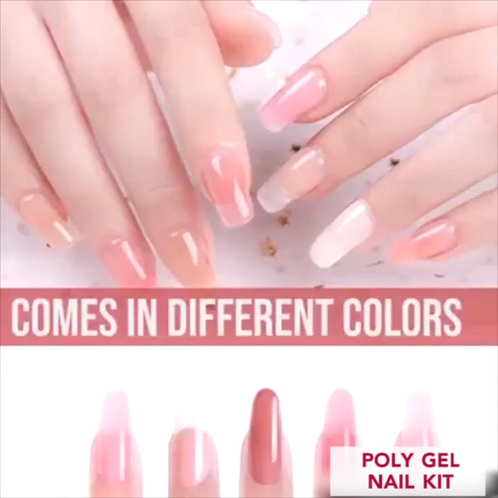 Polygel Nail Kit Video Video Diy Acrylic Nails Nail Kit Gel Nail Kit