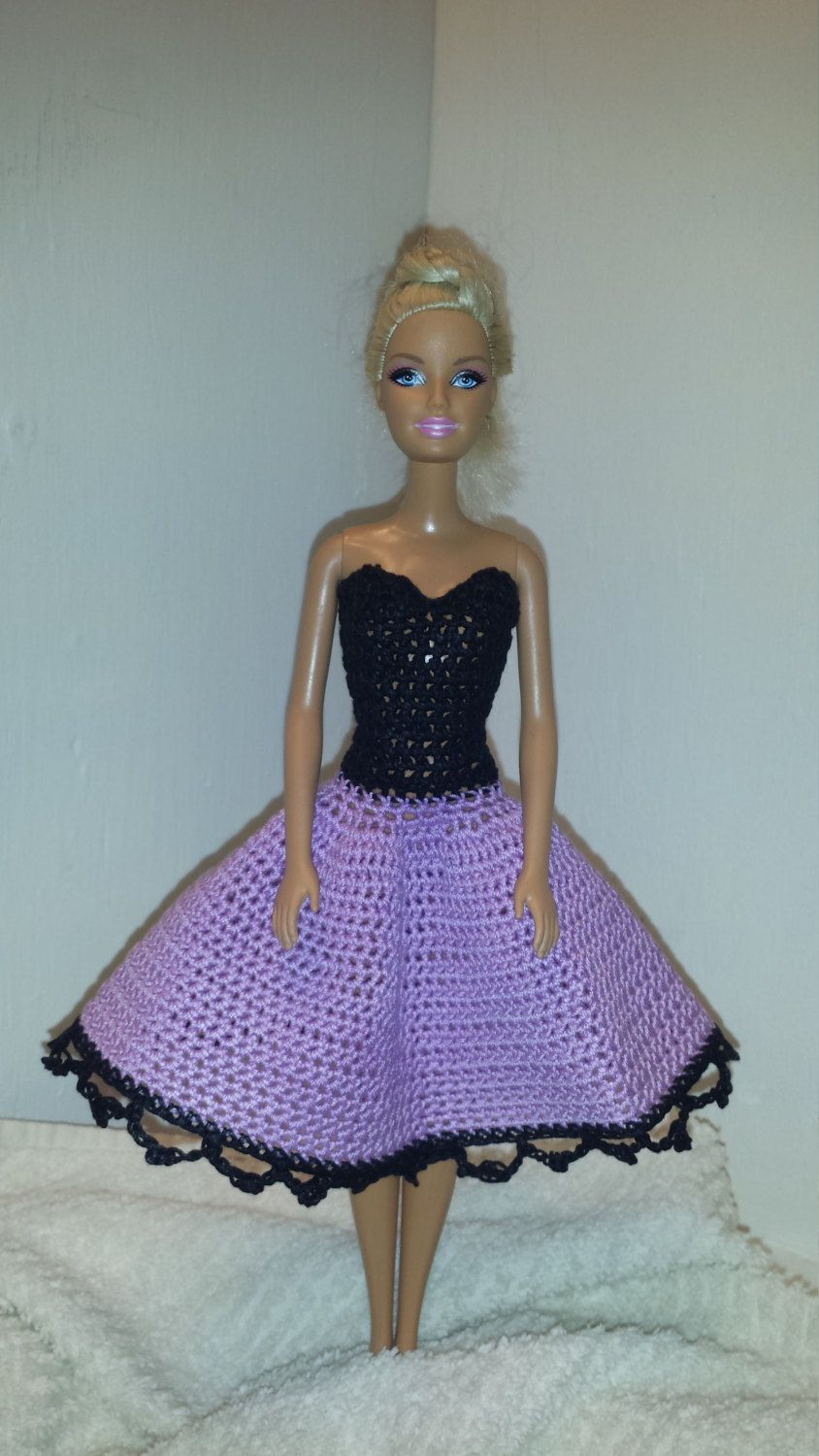 Crochet barbie strapless dress fashion doll crocheted clothing crochet barbie strapless dress fashion doll crocheted clothing handmade barbie clothes by grandmasgalleria on bankloansurffo Image collections