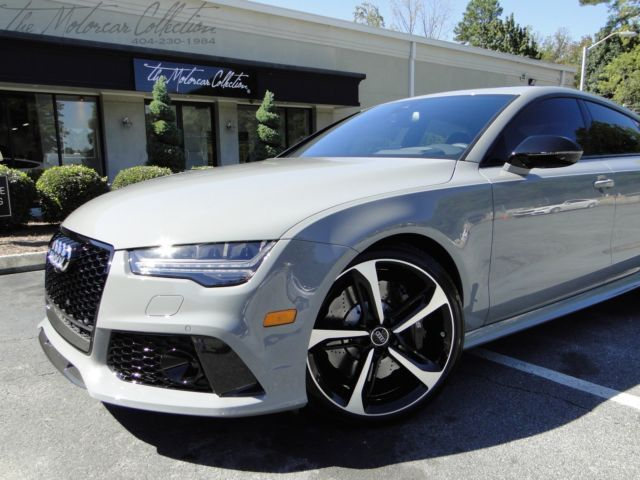 2016 audi rs7 in nardo gray carbon fiber only 5k miles clean carfax certified for sale in. Black Bedroom Furniture Sets. Home Design Ideas