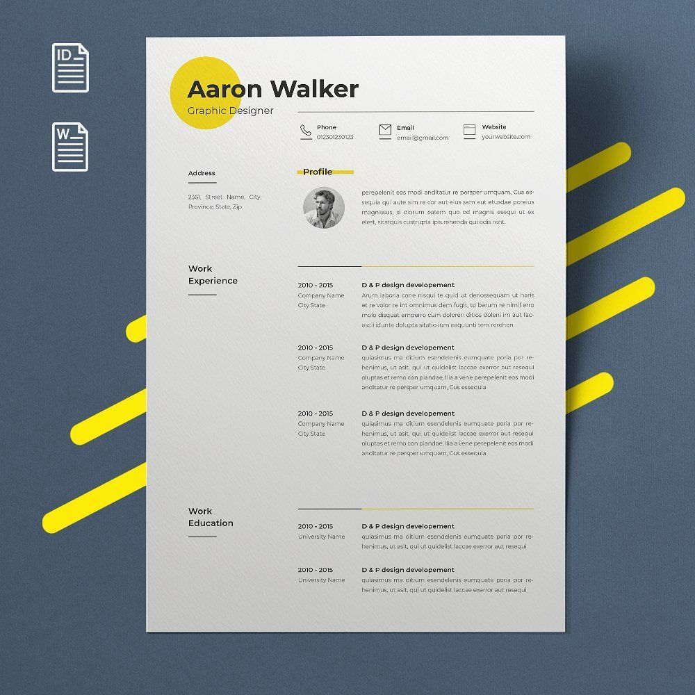2 pages resume   cover letter the template like all designs on cm come as a zip file  compressed