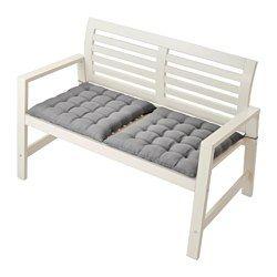 ÄPPLARÖ Selkänojallinen penkki, ulkokä - , valkoinen - IKEA