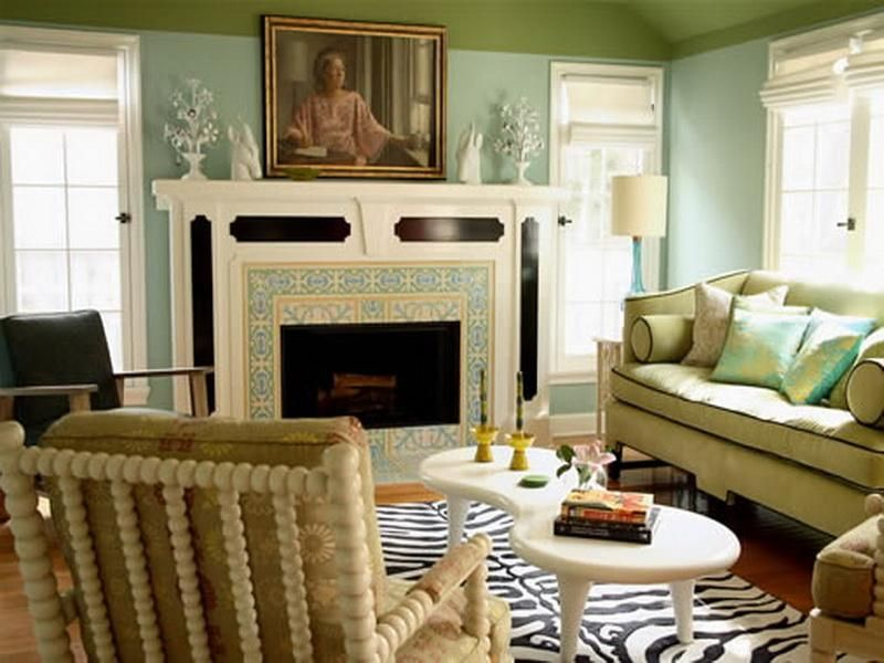 Pale Blue And Tan Livingrooms Pics  Pale Blue Green Paint Color Gorgeous Paint Decorating Ideas For Living Rooms 2018