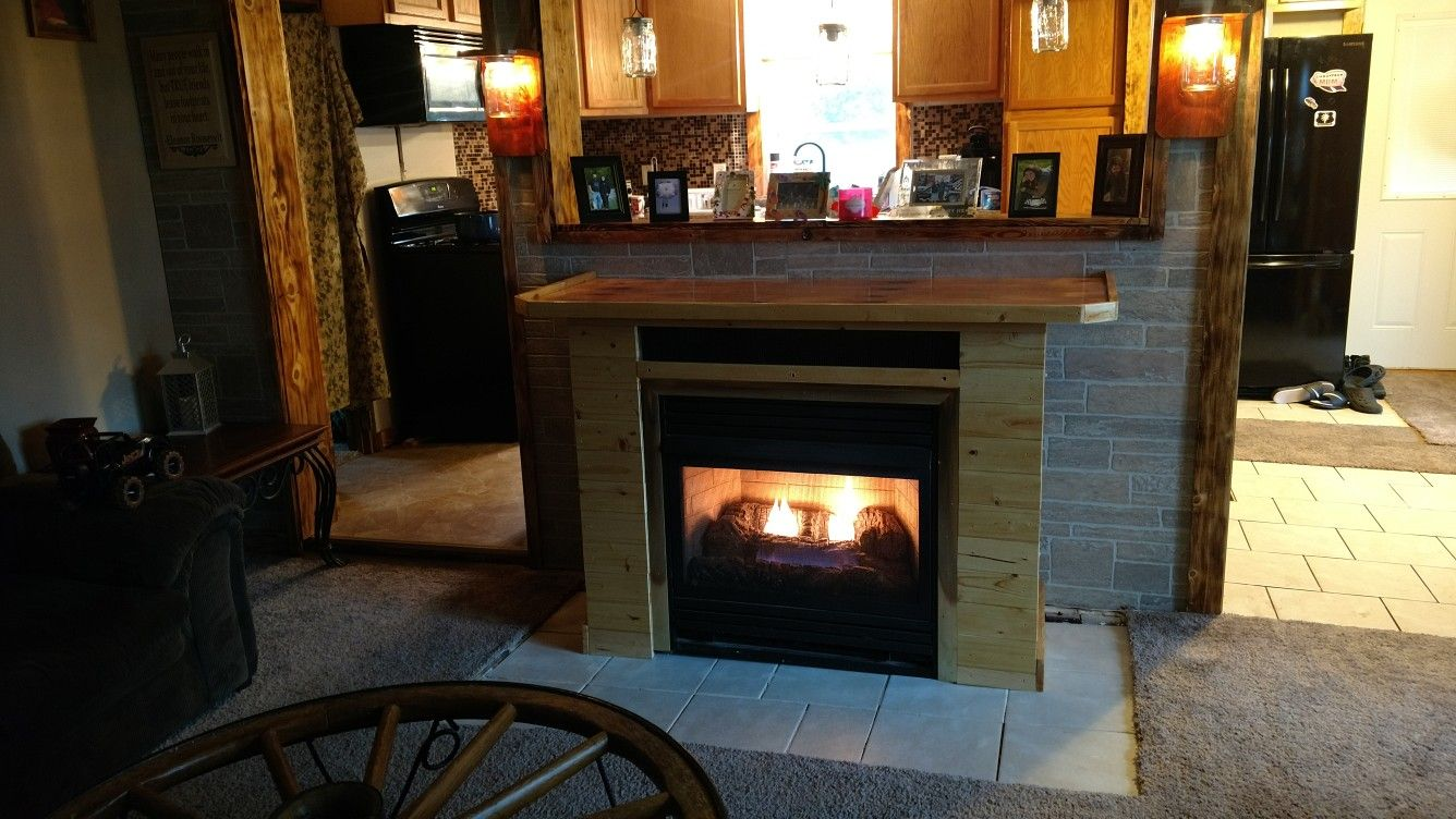 Built Fireplace For Customer Fireplace Building Home Decor