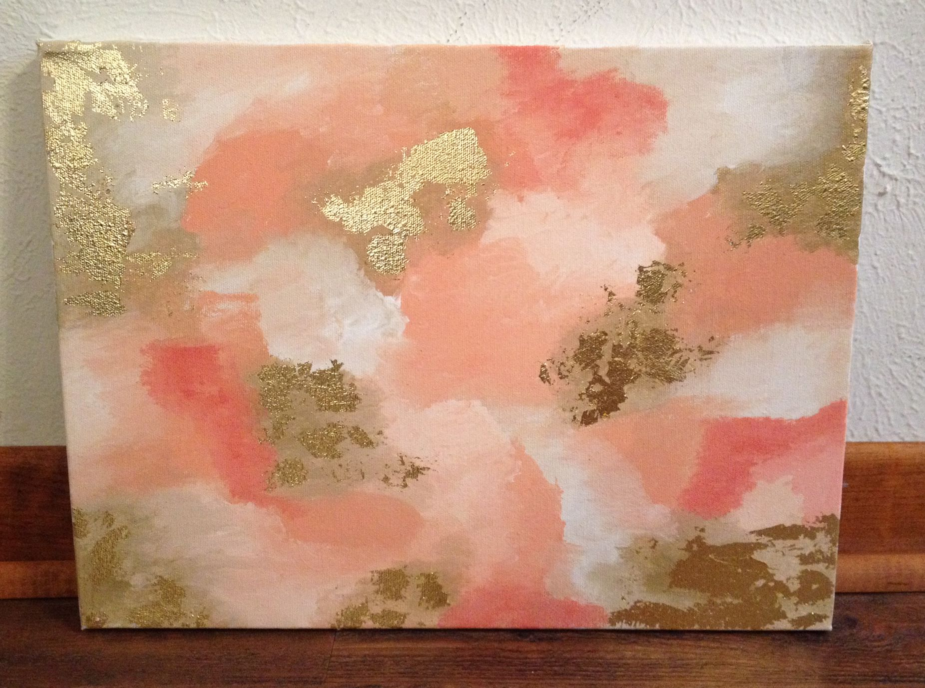 How To Make DIY Gold Leaf Abstract Art. LOVE this! | Crafts ...