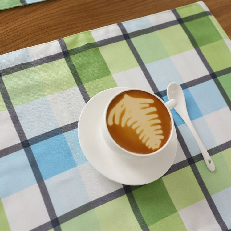Pin By Evlikcocina On Please To Go Green Plaid Placemats Table Coasters Placemats Coffee Tea Cups