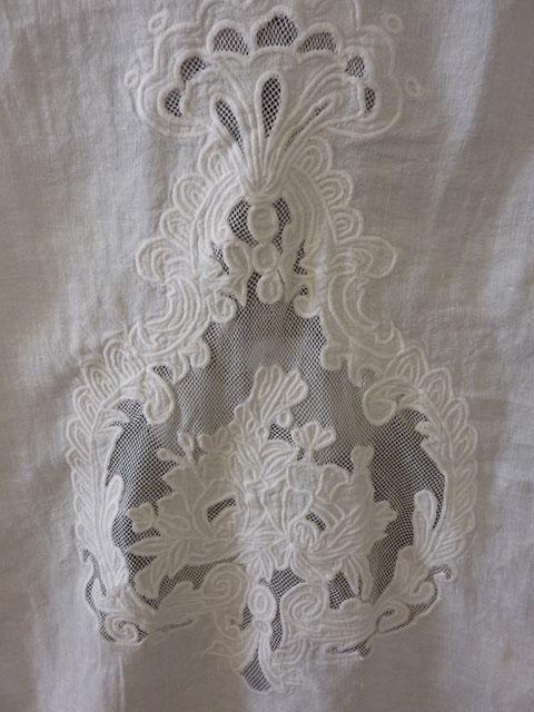 Brise bise store lin rideaux rideau brod s voilages for Rideau 45x120