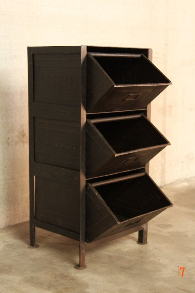 meuble industriel a tiroirs petit
