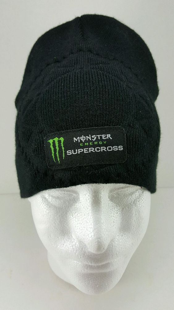 e50b705a1468d Monster ENERGY Supercross Black and green Beanie Hat Motocross Winter hat  in Clothing
