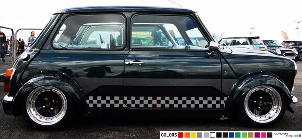 Details About Sticker Stripe For Classic Mini Cooper Bonnet Mirror