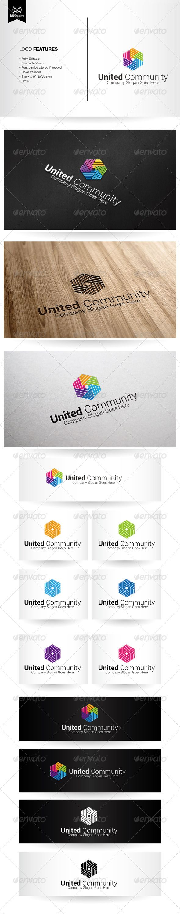 Colorful Hands and Unity Logo by mjcreative The logo is vector