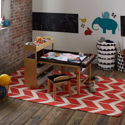 Emilio Kids 3 Piece Arts And Crafts Table And Chair Set Kids Art