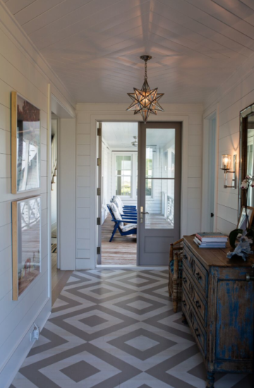 Three Beach Houses Near Charleston That You Just Have To See Coastal Living Rooms Painted Floors Floor Design