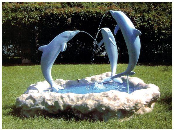 dolphin water fountain on Leighton King Custom Creations Dolphin Decor Dolphins Dolphin Wall Art