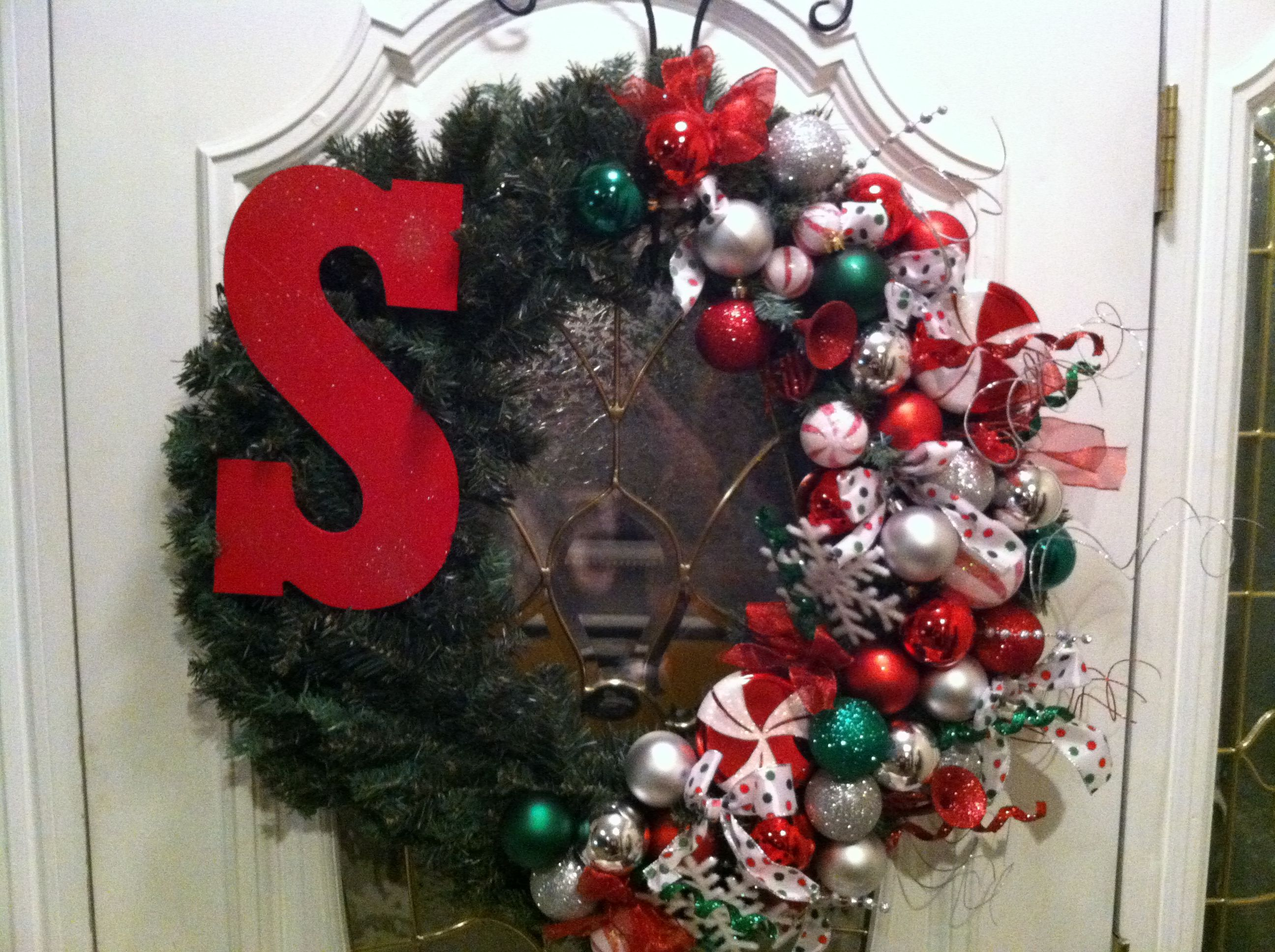 My 2012 Christmas Wreath    Made multiple similar wreaths & will be giving them as gifts to family members :)