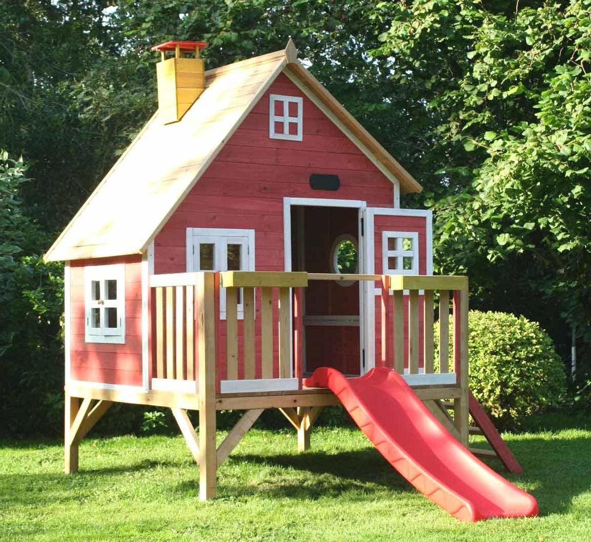spielhaus garten selber bauen, spielhaus für den garten selber bauen: diy anleitung | outdoor decor, Design ideen