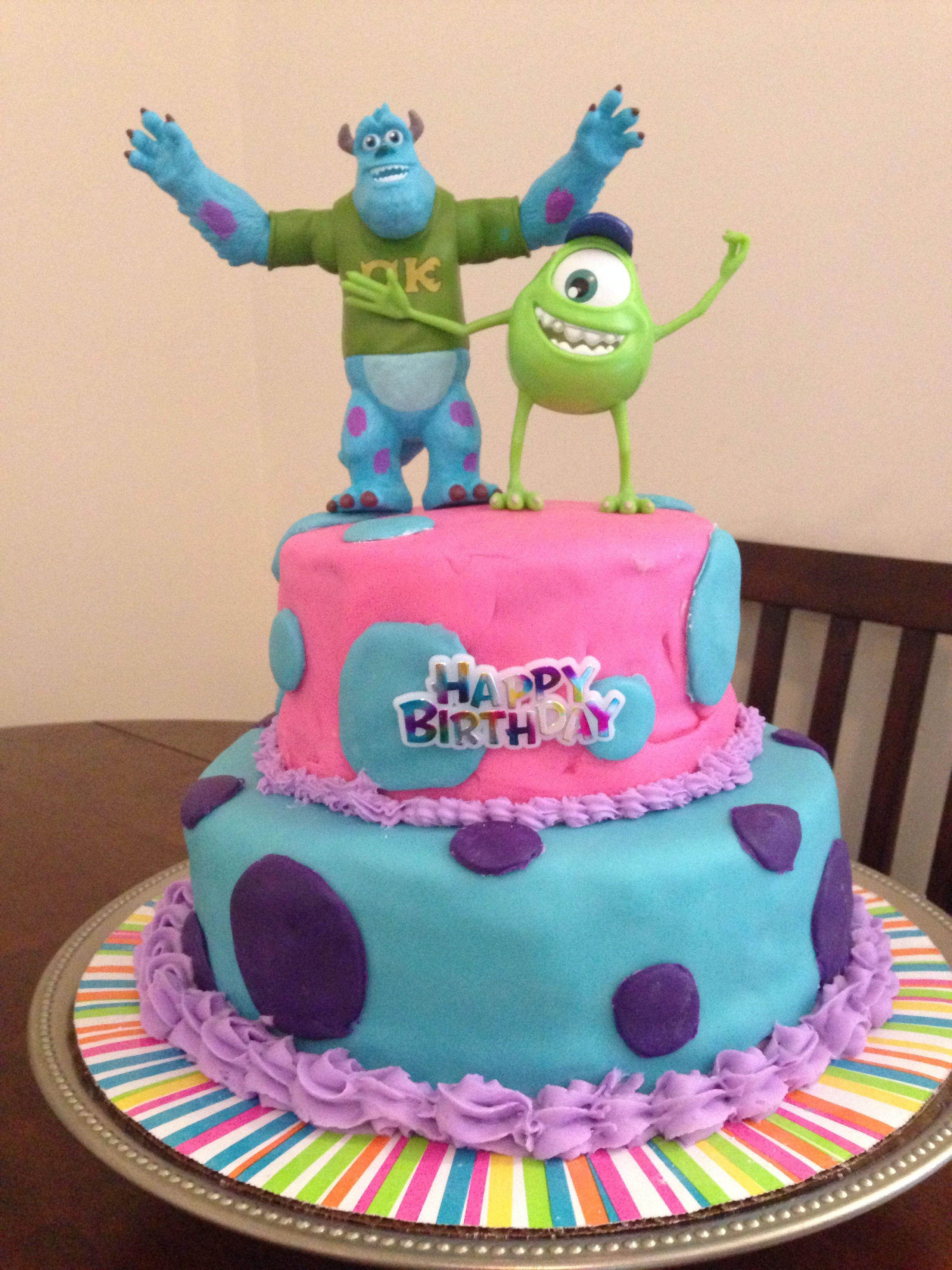 Sensational Monster University Birthday Cake Personalised Birthday Cards Epsylily Jamesorg