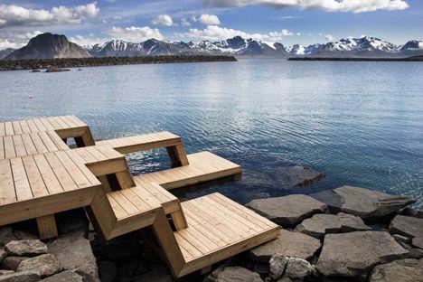 La sauna Bandas y terraza