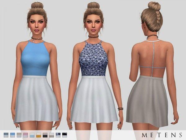 bb892ce751 The Sims Resource  Poppy Dress by Metens • Sims 4 Downloads VESTIDO NAS  PONTAS BRANCO