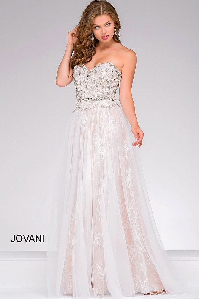 Crystals + Lace = Perfection #JOVANI #47876   Prom 2017   Pinterest ...