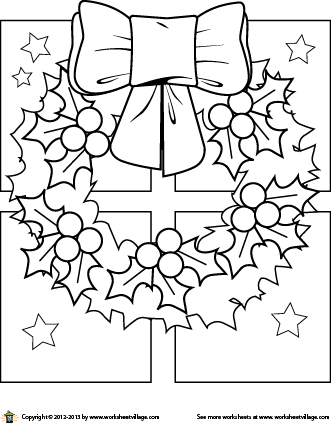 Christmas Wreath Coloring Page Snowman Coloring Pages Christmas Tree Coloring Page Christmas Drawing