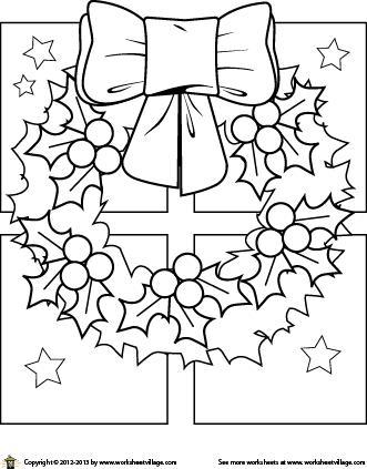 christmas wreath coloring page coloring christmas mandalas
