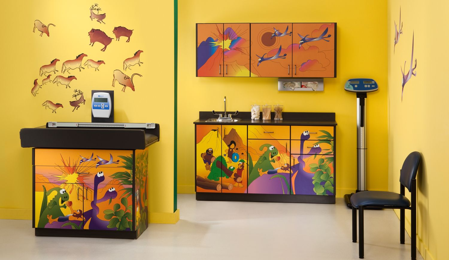 Pediatric Office Decor paint colors for pediatric examining rooms | optional accessories