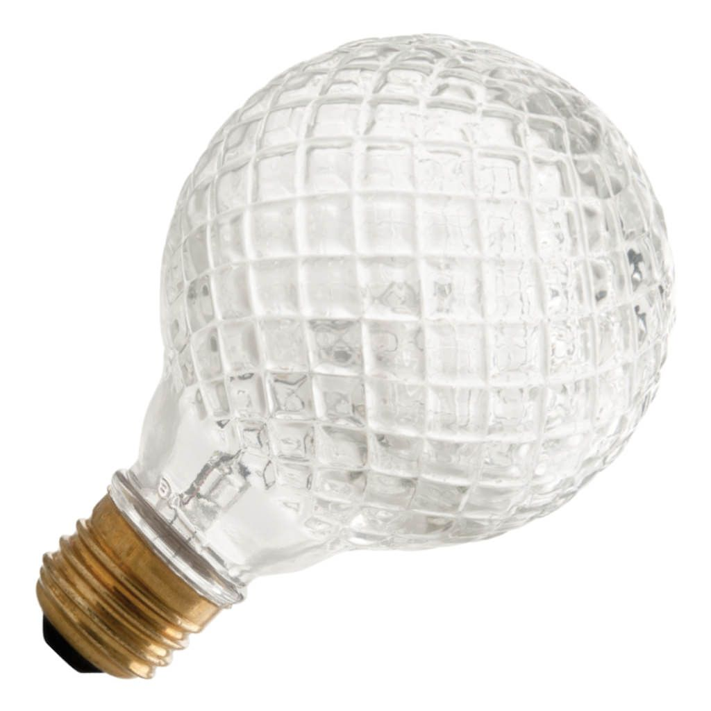 45 watt - 120 volt - G25 - Medium Screw (E26) Base - Diamond Cut Crystal - Good Night Dimmer - Smart Dimmer | Smart Electric Halogen Incandescent Light Bulb