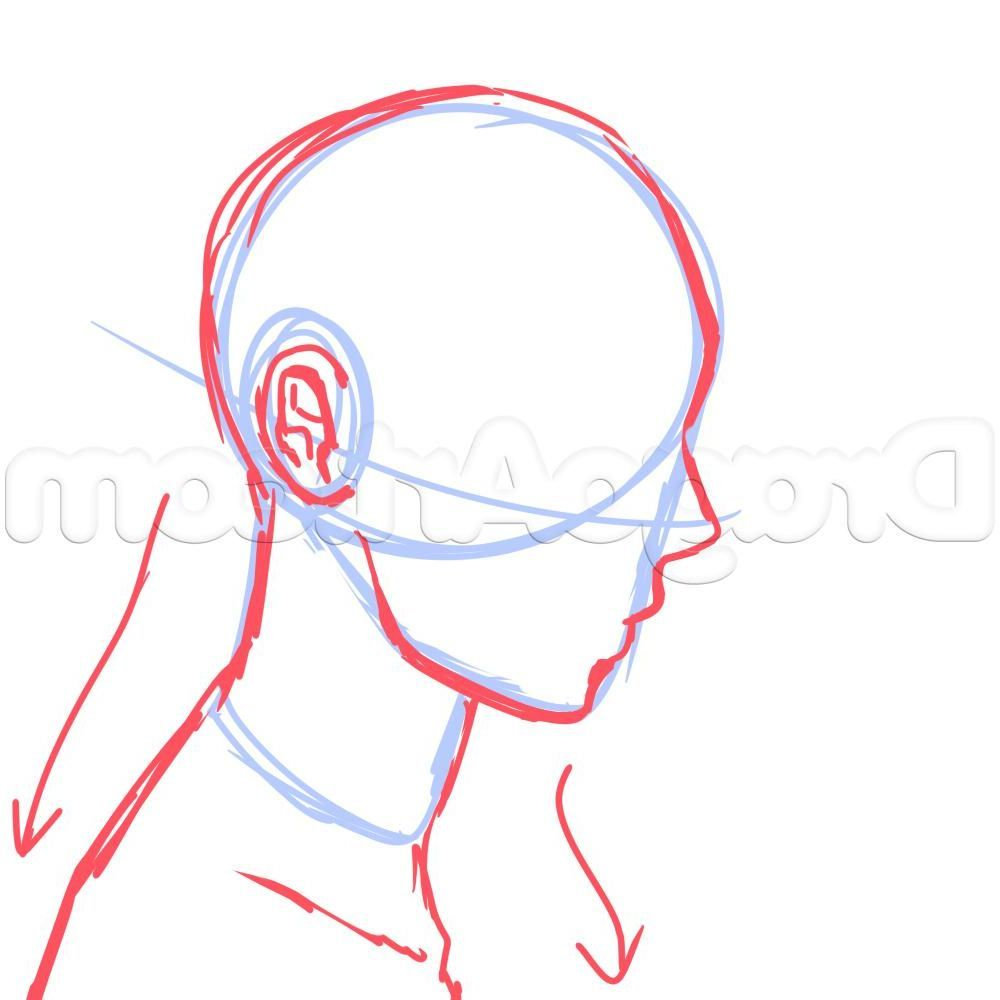 Drawing Side Of Face Anime 8 Side View Male Anime Face Drawing Tutorial Anime Face Drawing Drawing Tutorial Face Face Side View Drawing