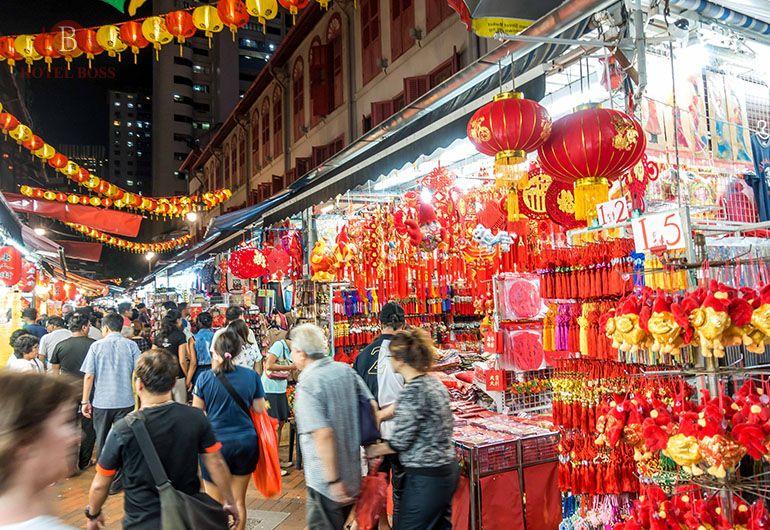 Chinese new year lightup 2017 at chinatown singapore
