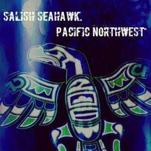 Salish Seahawk | Pacific Northwest, beautiful Cascadia Logo