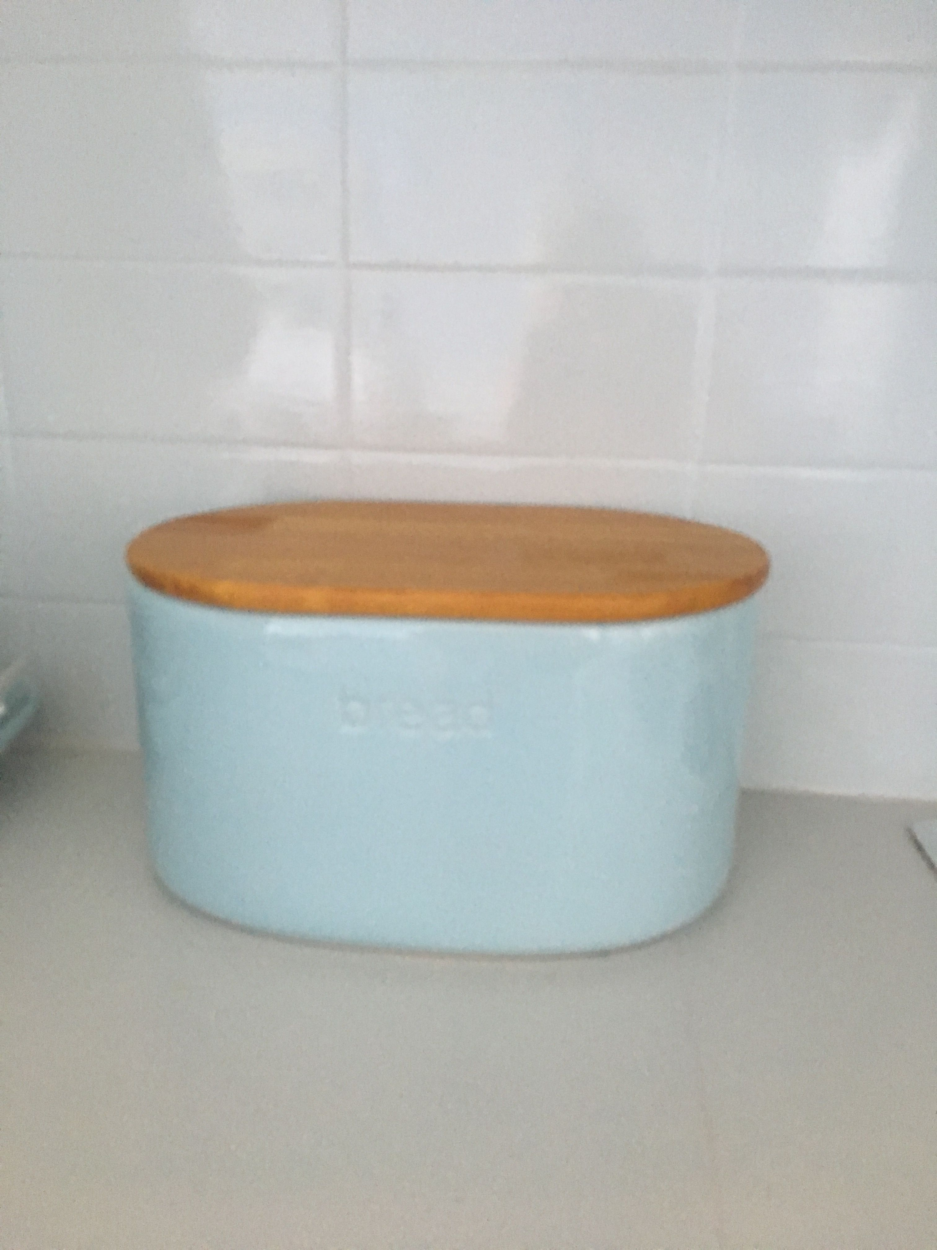 My gorgeous bread bin- ceramic and timber- it\'s perfect. Matches my ...
