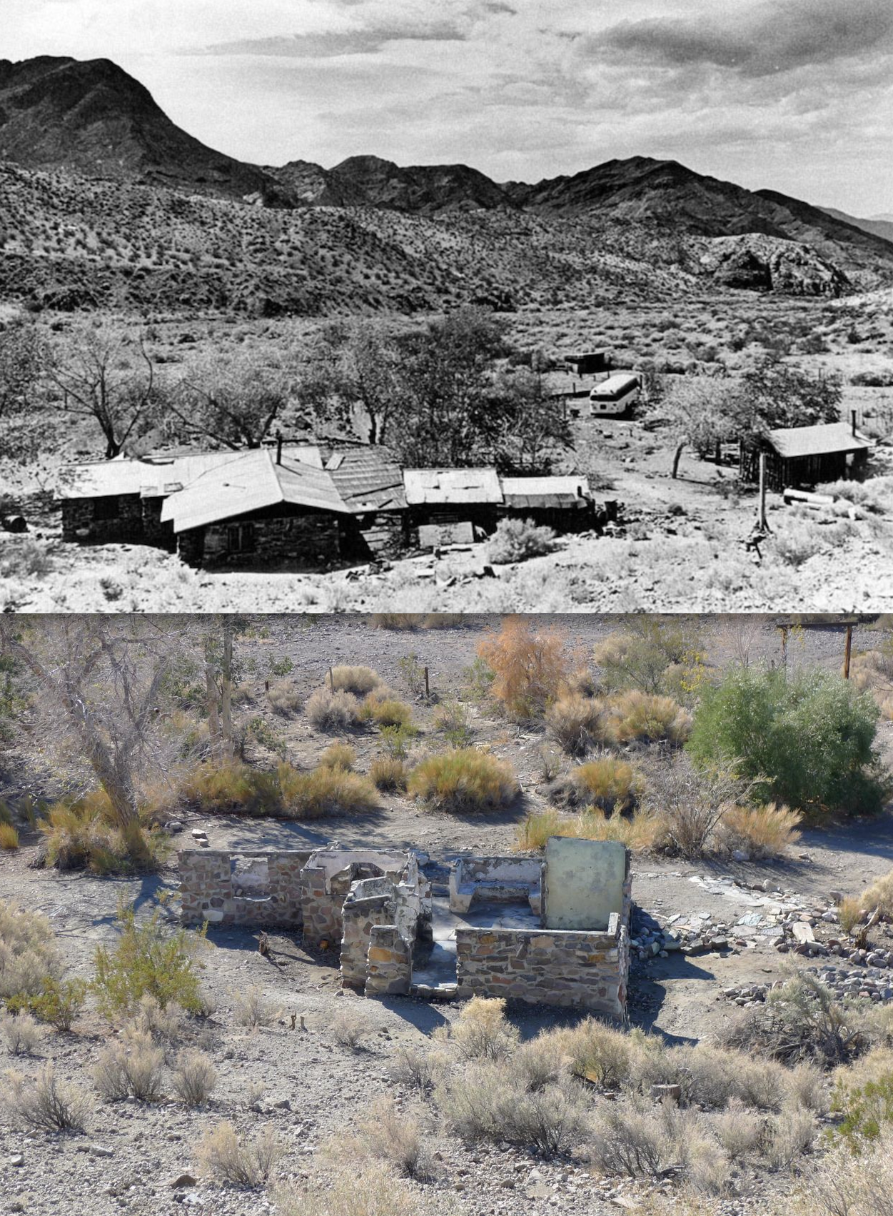 Barker Ranch Before And After The California Desert