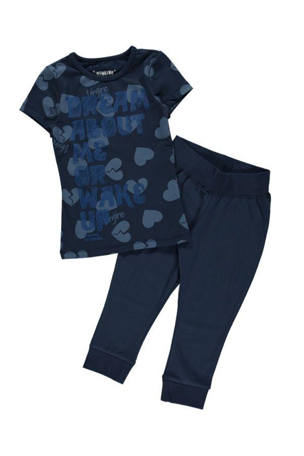 9bbaacbc166 Vingino pyjama capri voor meisjes Williane, navy   Kinderpyjama's ...